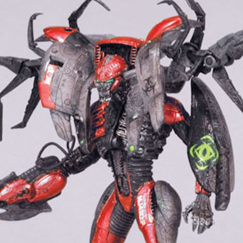 MCFARLANE SPAWN CYBER UNITS RED UNIT 001 BATTLE ACTION FIGURE