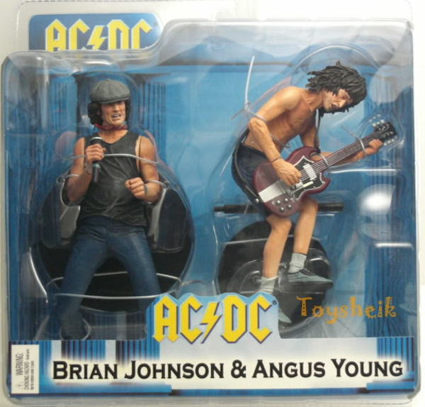 AC/DC NECA ACTION FIGURE BRIAN JOHNSON & ANGUS YOUNG 18CM