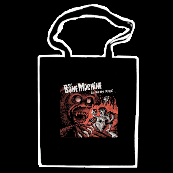 The Bone Machine Shopper Bag Giù Nel Mio Inferno